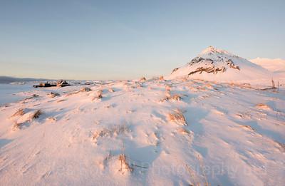 Morning light and lone house Arnarstarpi, Iceland February 2016