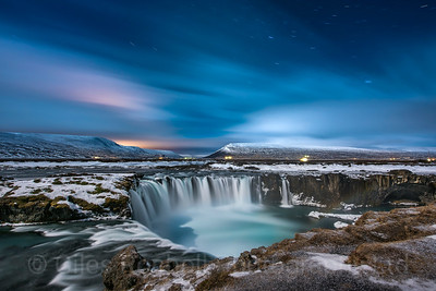 Godafoss by moonlight, Iceland Photo Tour February 2017