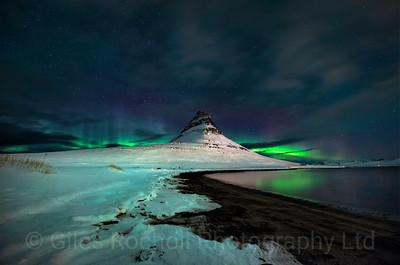 Northern lights over Kirkjufell, Iceland