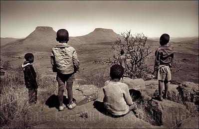 Cattle boys near Queenstown, South Africa 1987-1991