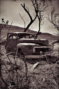 Rusting old car near Queenstown, South Africa 1987-1991