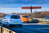 Angel of the North, Motorway, Gateshead, United Kingdom, Industrial; Working; Construction; Workers; Stock Shots; Engineering