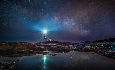 Milky way over Favàritx lighthouse, Menorca. PhotoPills Camp May 2018