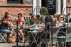 Lunching, Shopping, Restaurants, Diners, Albion Place, Leeds West Yorkshire, United Kingdom.