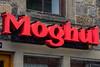 Mogul sign, Horsforth, Town Street, Leeds West Yorkshire, United Kingdom.