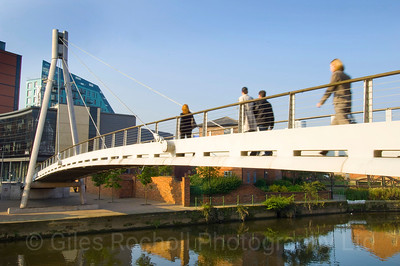 Brewery Wharf, Footbridge, Leeds West Yorkshire, United Kingdom.