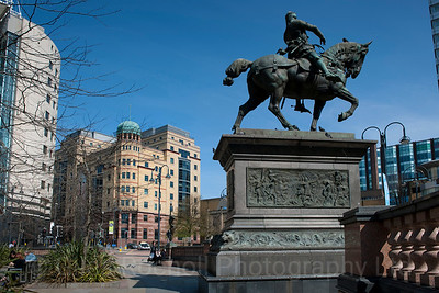 The Black Prince, Leeds City Square, Statue, Leeds West Yorkshire, United Kingdom.