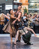 Street ballet, Beauty and the beast, Victoria, Leeds, West Yorkshire, United Kingdom ...please credit Giles Rocholl