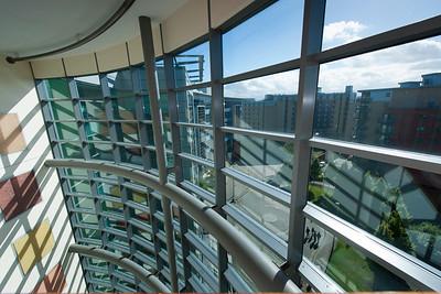 2 City Walk, Leeds, West Yorkshire, Modern Glass, Windows, building, sunshine, Industrial, Working, Construction, Workers, Stock Shots, Engineering;