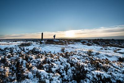 Winter sunshine, Burley Moor, near Ilkley, West Yorkshire, United Kingdom. January 23rd 2019.