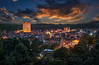 Richmond North Yorkshire at dusk,