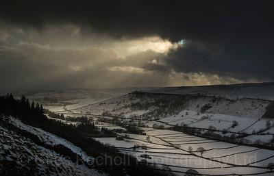 Upper Wharfedale taken near Kettlewell, North Yorkshire, United Kingdom. 17.01.2018.