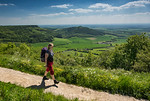 Walking the Cleveland Way along Sutton Bank, North Yorkshire, United Kingdom. May 25th 2017.