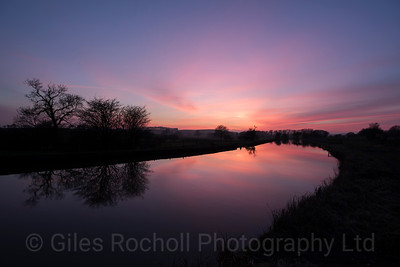 Yorkshire Landscapes, Skipton sunset.