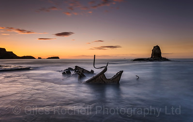 Wreck of the Admiral Von Tromp, Saltwick Bay near Whitby, North Yorkshire, United Kingdom. f22 48 secs ISO 31 Nikon D810 14-24mm lens. August 15th 2015.