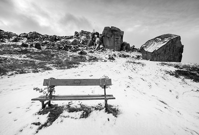 Winter at the Cow and Calf Rocks, Ilkley Moor, West Yorkshire, United Kingdom. December 29th 2017