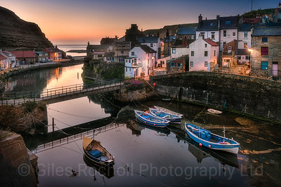 Sunrise at the fishing villagre of Staithes, North Yorkshire, United Kingdom.May 26th 2017