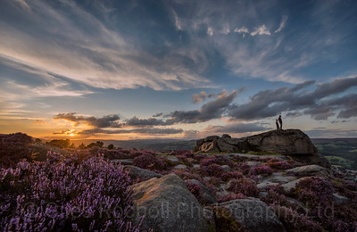 Sunset over Ilkley Moor, West Yorkshire, United Kingdom