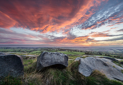 Sunrise from Almscliffe Crag, near Harrogate, North Yorkshire, United KIngdom. October 9th 2018
