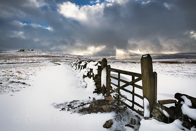 Looking towards Buckden from Kidstones Bank, North Yorkshire Dales, United Kingdom. 17.01.2018.