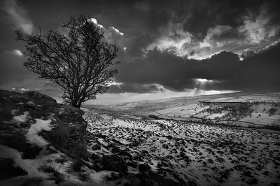 Upper Wharfedale taken near Kettlewell, North Yorkshire, United Kingdom. 17.01.2018.