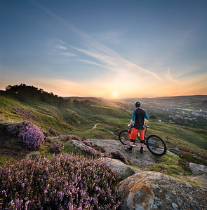 Ilkley Moor sunset, Ilkley, West Yorkshire, United Kingdom. August 24th 2020.