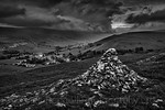 Stormy clouds over Kettlewell, Upper Wharfedale, North Yorkshire, United Kingdom. May 28th 2017