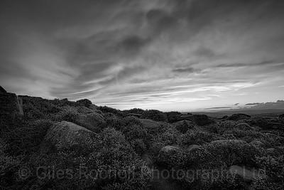 Sunset over Ilkley Moor, West Yorkshire, United Kingdom