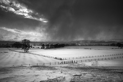 Weston Park; Otley; West Yorkshire; Snow; Flurries, storm; Black and White, ; Winter; North Yorkshire; Village; Yorkshire; United Kingdom; scenic; scenery; travel; explore; photography; landscape; beauty; love; Giles Rocholl; art; print; prints;winter.
