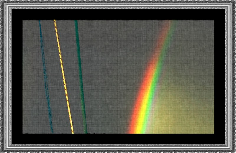 Surreal Rope and Rainbow. Exclusive Original stock Surreal and Abstract  Photo Art digital download.