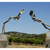 A nice artistic gateway to the vineyards.