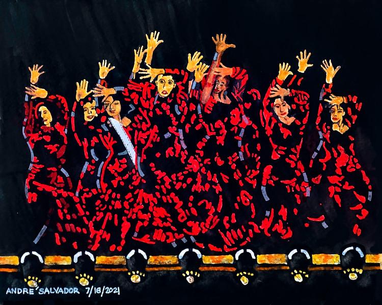TOWN FIESTA DANCERS, SANTA BARBARA, CALIFORNIA