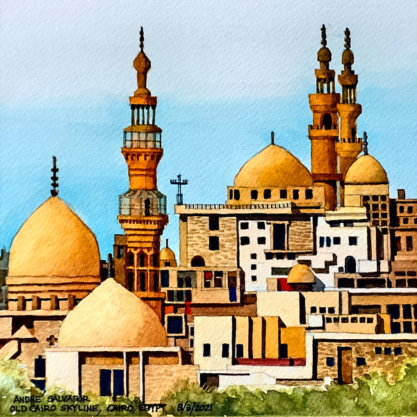 OLD CAIRO SKYLINE, CAIRO, EGYPT