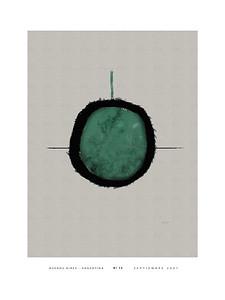 Nº 15 green w/white border