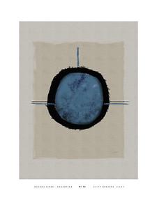 Nº 16 blue w/white border