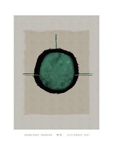 Nº 16 green w/white border