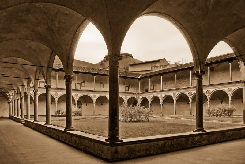 Courtyard, Florence, Italy
