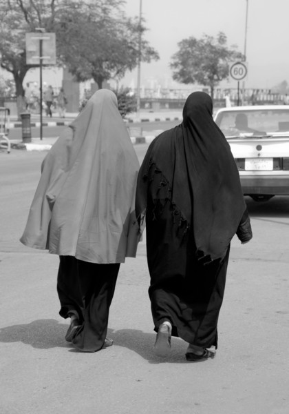 Two Women in Burkas