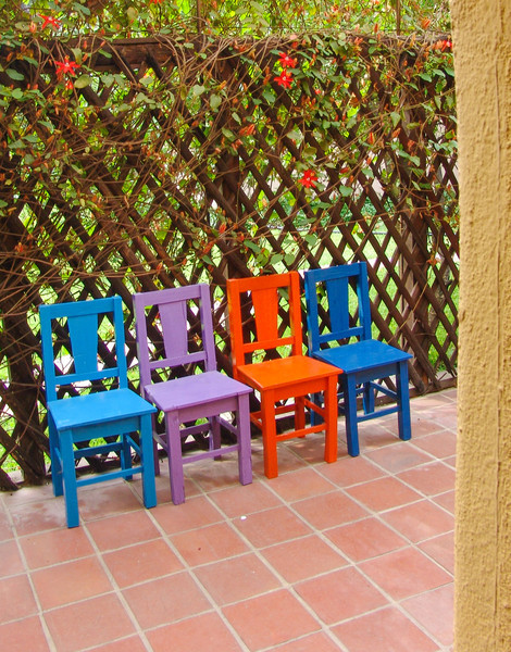 Colored Chairs in Guatemala