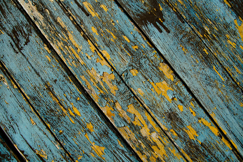 Peeling Paint Blue & Yellow