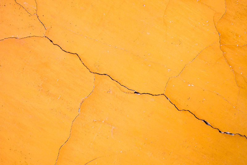 Crack in Yellow Wall, Guatemala