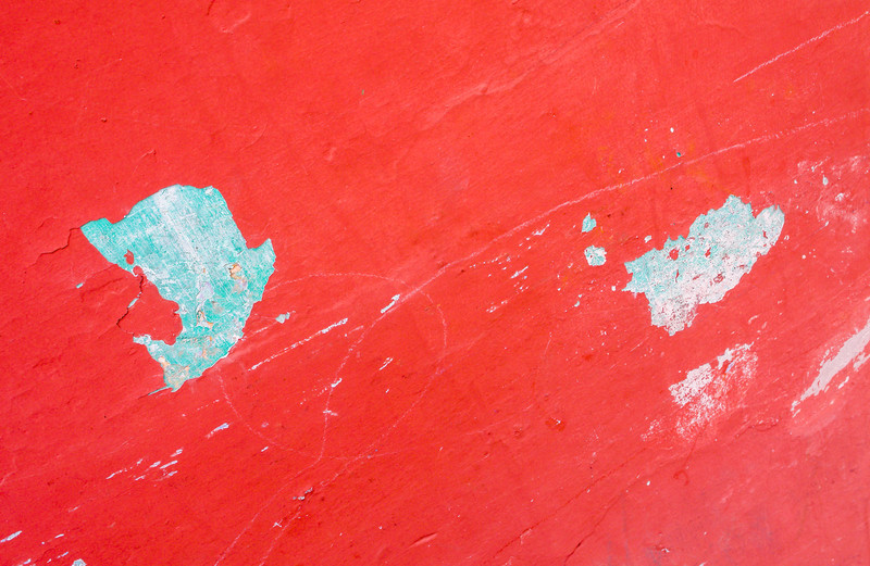 Red Peeling Wall in Guatemala