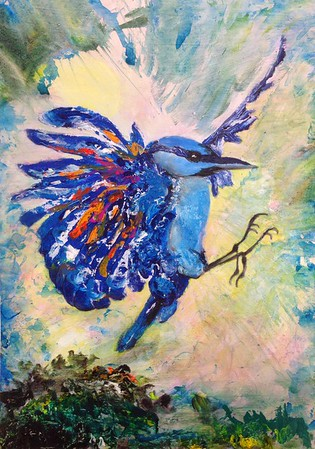 BLUEBIRD, 2016 acrylic on paper 50 x 70 cm Current status: To be exhibited in May 2017