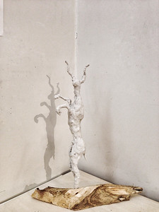 ANTELOPE plaster, wire, cotton cloth, iron, wood Height 60 cm 2016