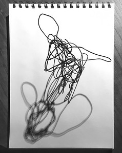 MOUSIE DRAWING iron wire 12 x 12 cm 2019