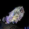 Fondation Louis Vuitton<br /> Maquette suspendue des voiles de verre habillant l'ensemble du bâtiment<br /> Architecte Frank Gehry<br /> Jardin d'Acclimatation<br /> Bois de Boulogne<br /> Paris  ( France )