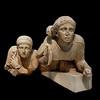Les femmes Lapithes de l'angle gauche du fronton ouest du temple de Zeus
