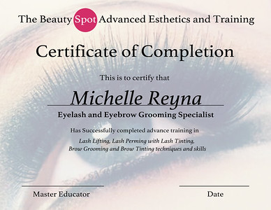 Teresa  Certification The Beauty Spot