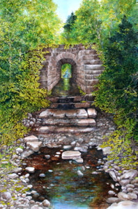 """Trestle Bridge- Big Brook"" watercolour"