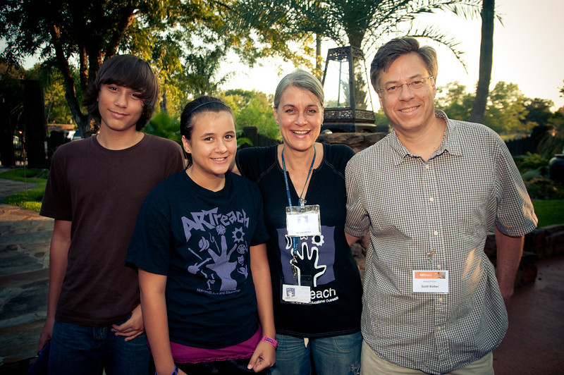 Topper, Claire, Terri and Scott Bieber